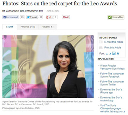 Photos: Stars on the red carpet for the Leo Awards