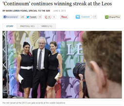 'Continuum' continues winning streak at the Leos