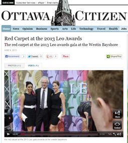 the red carpet at the 2013 Leo gala awards at the westin bayshore
