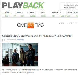 Camera Shy, Continuum win at Vancouver Leo Awards