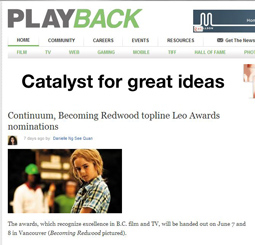 Continuum, Becoming Redwood topline <br />