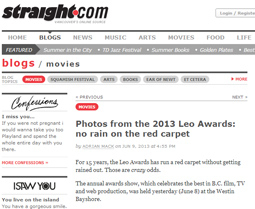 Photos from the 2013 Leo Awards: no rain on the red carpet