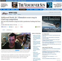 Hollywood North: B.C. filmmakers score coup in CineCoup competition - The Vancouver Sun