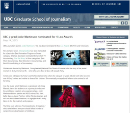 UBC Graduate School of Journalism