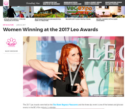 Women Winning at the 2017 LEO AWARDS