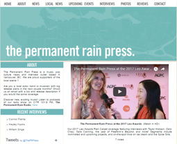 The Permanent Rain Press at the 2017 LEO AWARDS. (Watch in HD)