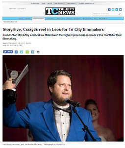 Tri-City News: StoryHive, Crazy8s reel in Leos for Tri-City filmmakers
