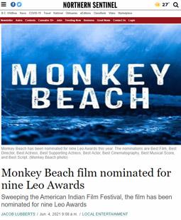 Monkey Beach film nominated for nine Leo Awards