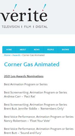 Corner Gas Animated (awards list)