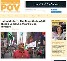 POV Magazine Haida Modern, The Magnitude of All Things Lead Leo Awards Doc Winners