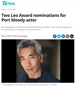 Two Leo Award nominations for Port Moody actor